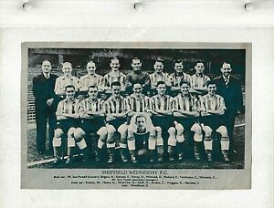 1950/1 WEEKLY TELEGRAPH TEAM PICTURE - SHEFFIELD WEDNESDAY