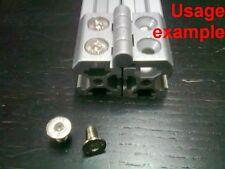 Aluminum T-slot 2020 profile flat head cap bolt screw M5x10mm, 24-set
