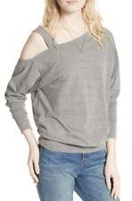 NWT We The Free Free People Saratoga Top Sweatshirt Heather Gray S Retails $68