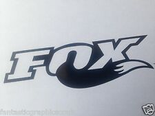 3x Fox Shox Tail Vinyl Decal Sticker Forks / Bike / Frame Set Black GLOSS