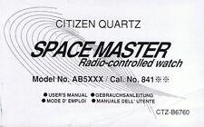 Citizen Quarz Space Master Radio Controll Watch Beschreibung Instruction I053