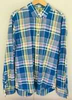 Tailored By J.Crew Slim Fit Long Sleeve Plaid Button Up Shirt Size Large NWOT