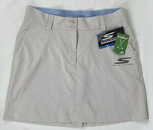 Skechers Women's Go Golf Tan Outdoor Bobbi Skort Skirt Size 8 NWT
