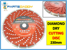 "9"" 230mm DIAMOND DRY CUTTING DISC Angle Grinder Saw Blade Disc Stone Masonry 128"