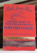 Rare Vintage Matchbook Cover S1 Oregon Cascade Lockis Fish Lure Flies Fishing