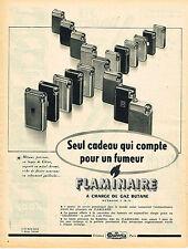PUBLICITE ADVERTISING 124  1952   FLAMINAIRE   briquets au butane QUERCIA