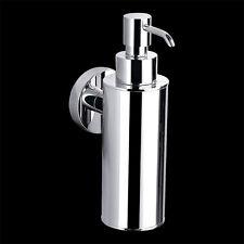 Bathroom Round Full Chrome Soap Dispenser Wall Mounted Brass Chrome