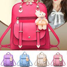 Women Leather Backpack School Rucksack College Shoulder Satchel Travel Bag 2017