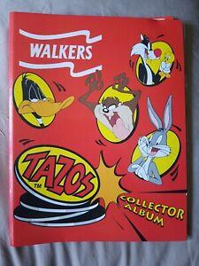Tazos Walkers Looney Tunes binder Pogs Retro 90s Rare including 70 plus pogs