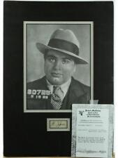 Al Capone Matted Photo and Signature Lot 136
