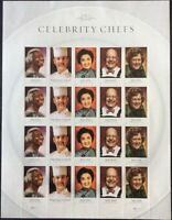 Celebrity Chefs - Sheet of 20 Forever Stamps Scott 4922-26