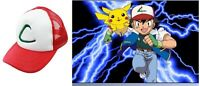 NEW Anime Pokemon Pikachu ASH KETCHUM trainer costume cosplay hat cap + CHARM