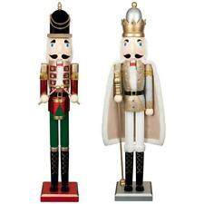 New Christmas Decorative Design Jumbo Nutcracker 91cm Red & Gold