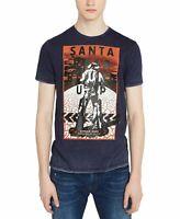 Buffalo David Bitton Mens T-Shirt Blue Size 2XL Santa Rosa Graphic Tee $29 #008