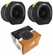 "2x PRV Audio TW700Ti Bullet 4"" Pro Super Tweeter 8 ohm Titanium Car Stereo 480W"