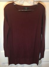 Women's Mossimo XS Sweater Burgundy Long Sleeve Crew Neck Pull Over Shirt NWT