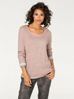 Casual Layered Look, Pink Knit Tunic Layered Over Grey Viscose Jersey Sz 16 /BIG