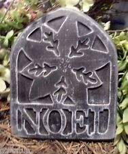 """Noel plastic mold holiday Christmas plaster cement mould  9"""" x 7"""" x 1/2"""""""