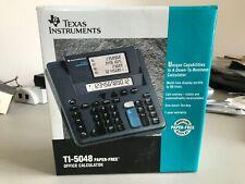 Texas Instruments Ti-5048 Paper-Free Desktop Adding Machine Calculator New