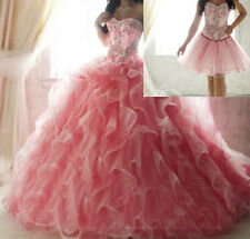 Two Piece Mixed Color Quinceanera Dresses Detachable Skirt Organza Prom Dresses