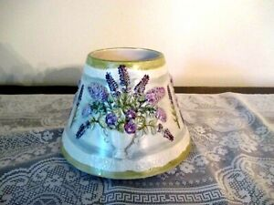 """Yankee Candle Large Jar Candle Shade Topper """"Vase with Lilacs""""  Approx. 5"""" High"""