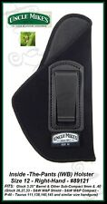 UNCLE MIKE'S INSIDE-THE-PANTS - IWB - SIZE 12 - RH - OPEN STYLE HOLSTER - 89121