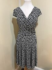 White House Black Market Womens Dress Size 8 Medium Print