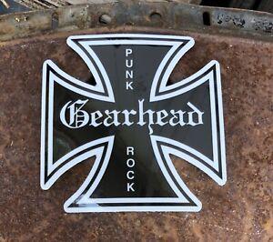 Gearhead Brand Maltese Cross Sticker Decal Hot Rods Garage Punk Rock Lifestyle