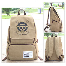 Anime One Piece Luffy Pirates Canvas Backpack Sport Outdoor Boy Girls School Bag