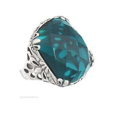 Silpada R2456 Caspian Sea Faceted  Green Aqua & .925 Sterling Silver Ring Sz 8
