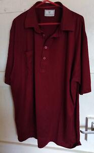 Lyle & Scott Shirt Short Sleeve Polo Burgundy  Size UK L