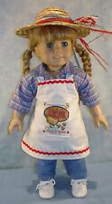 18 Inch Doll Clothes Feed Bag Apron, Shirt, Jeans, Hat Outfit made by Jane Ellen