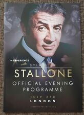 An Experience With Sylvester Stallone LONDON Original Programme RARE LIMITED