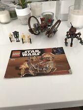 Lego 7670 Star Wars Hailfire Droid & Spider Droid Complete