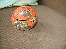 Vintage Tin Litho Halloween Noise Maker Witch, Cat, Pumpkins U.S. Metal Toy Co.