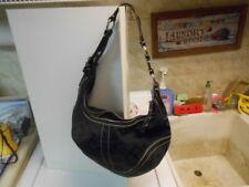 COACH Black Cloth Hobo Style Shoulder Bag