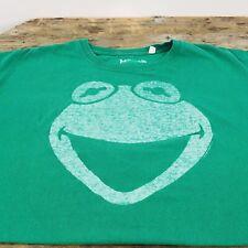 VTG Men's  Kermit The Frog Face T Shirt Jim Henson The Muppets Puppets SZ XL
