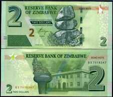 ZIMBABWE 2 DOLLARS 2016 P 99 UNC LOT 5 PCS
