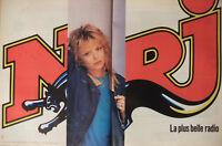 PUBLICITÉ DE PRESSE 1989 FRANCE GALL AVEC NRJ LA PLUS BELLE RADIO - ADVERTISING