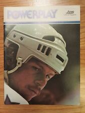 HOUSTON AEROS vs CALGARY COWBOYS 1975-76 WHA Program GORDIE HOWE RON GRAHME