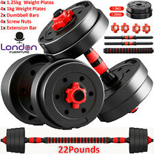 Dumbells Pair of Gym Weights Barbell/Dumbbell Body Building Free Weight Set 10Kg