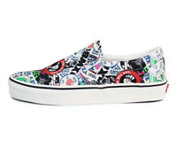 Vans Classic Slip On Mash Up Stickers White Men's Size 10 VN0A38F7VFV