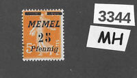 #3344  PF25  MH stamp Sc56 1922 Memel / Lithuania / Prussia / Germany WWI