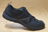 SKECHERS RELAXED STEP MEMORY FOAM MENS SNEAKERS BLACK LEATHER SHOES SIZE 13