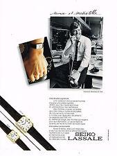 PUBLICITE ADVERTISING 015  1982  SEIKO LASALLE  montres CHARLES B. rédacteur en