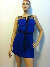 T-Bags Los Angeles Double Pocket Dress in Electric Blue