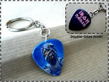 IRON MAIDEN Plectrum KEYRING double sided Guitar Pick KEYCHAIN key fob