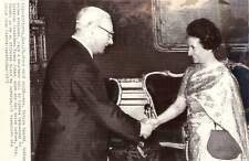 1971 AP NEWS PHOTO-INDIA PM INDIRA GANDHI & FRANZ JONAS