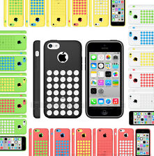 SOFT SILICONE COLOURED HOLE CASE FOR APPLE IPHONE 5C COVER + SCREEN PROTECTOR