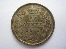 Canada 1871H 10 Cents, GVF. Scarce.